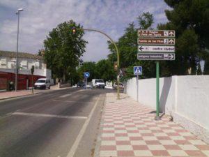 Uno de los semáforos