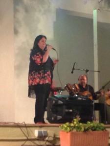 María del Mar Dávila en su actuación