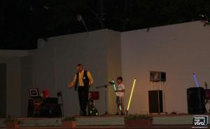 Los niños subieron al escenario