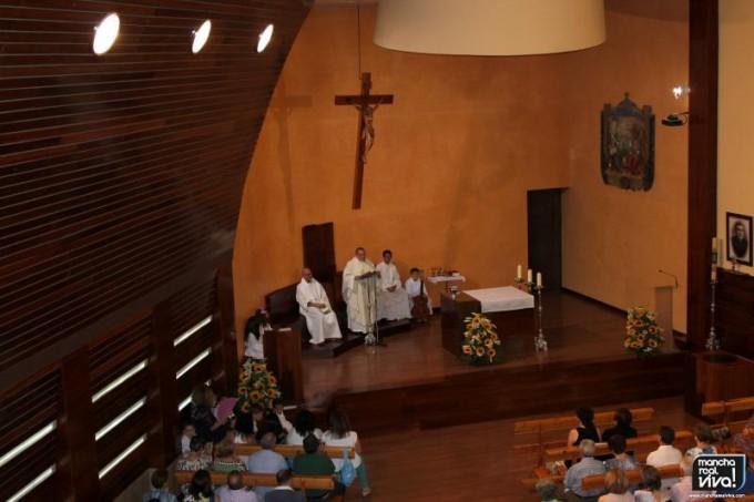 El Párroco Don Francisco Javier Delgado se dirige a sus fieles