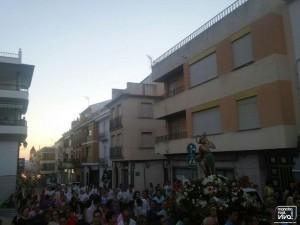Procesión del Santo por las calles del pueblo