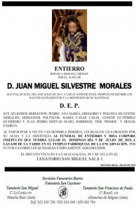 JUAN MIGUEL SILVESTRE MORALES 04 - 07 - 15