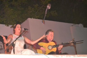 M. Angeles Martinez acompañada de Eduardo Rebollar