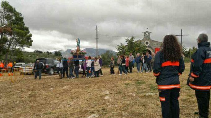 Foto de Protección Civil en la Romería