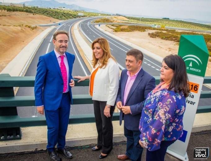 Felipe López, Susana Díaz, Francisco Reyes y María del Mar Dávila