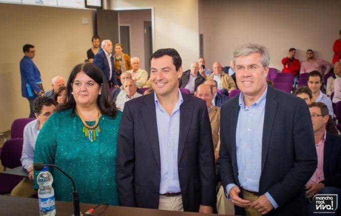 María del Mar Dávila, Juan Manuel Moreno y José Enrique Fernández