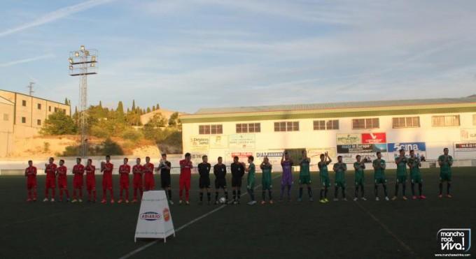 Formaciones de ambos equipos antes del partido