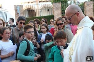 Los pequeños recitaron poesías de Santa Teresa