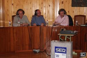 Oliver con Juan de Dios y Manuel Sánchez