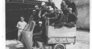 Trabajadores de Sesa en el motocarro