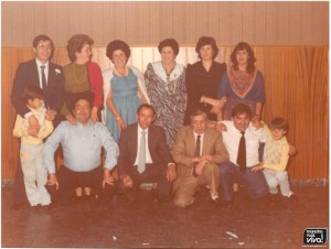 Amigos de boda en los 70