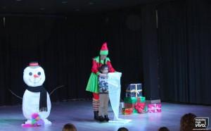 Los pequeños tomaron parte en el escenario