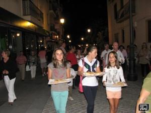 El reparto de dulces es parte de la tradición