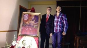 El presentador Andrés Vargas y el autor Juan José Hervás