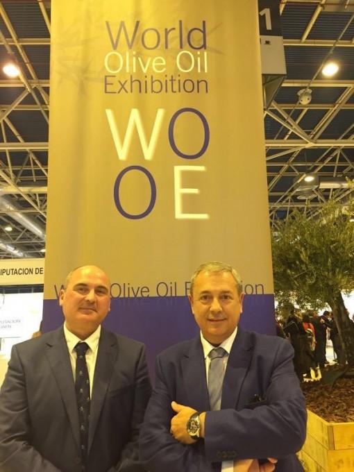 Raul y Juan Manuel Rosa en la World Olive Oil Exhibition