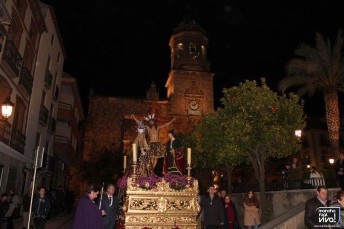 El Trono a su paso por la Plaza de la Constitucion