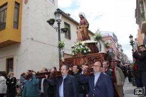 La imagen de San José fue sacada por los cofrades