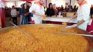 Degustación de paella popular