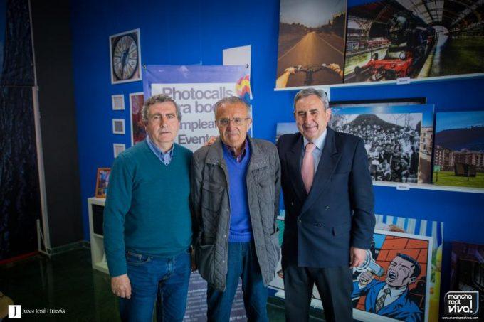 José Boyano en su visita a nuestro estudio en compañía de José Luis Quero