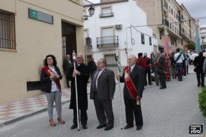 Don Mariano Cabeza con Cofrades