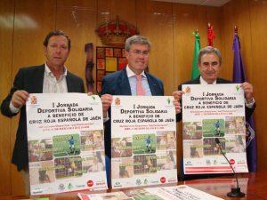En la presentación de la I Jornada Deportiva a beneficio de Cruz Roja Provincial