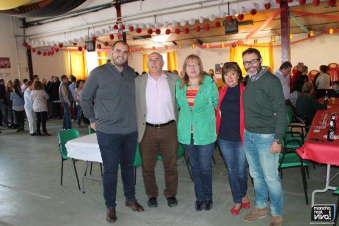 Micaela Martínez con Natividad Redondo, Rafael Valdivieso, Juan Balbín y Fran Rosa