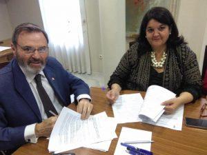 Firma de la adhesión al Programa VIOGEN