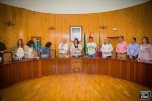 La Corporación Municipal recibió a los jugadores en el Salón de Plenos
