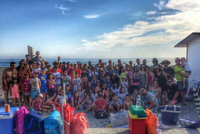 Sixto Arte con padres y familias en Salobreña