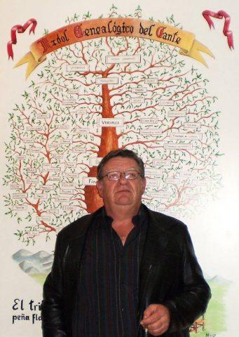 Cuadro de Alfonso Alcántara que ahora forma parte del escenario de la peña flamenca