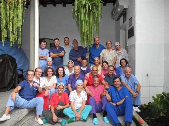 Personal sanitario de Quesada Solitaria en una de las expediciones a Guatemala