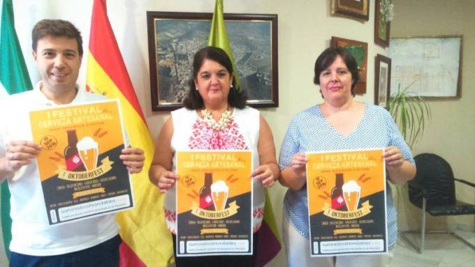 La Alcaldesa Mar Dávila con los Concejales Ildefonso Ruiz y Silvia Calvo
