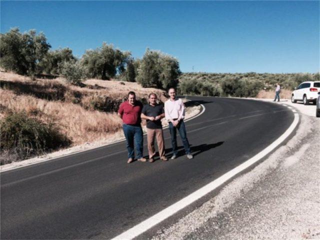 El Diputado José Castro visitó la carretera que une Mancha Real y Torres