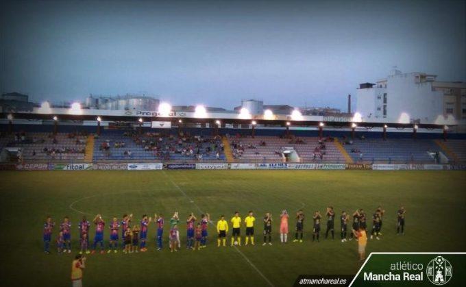 Imagen antes del comienzo del partido