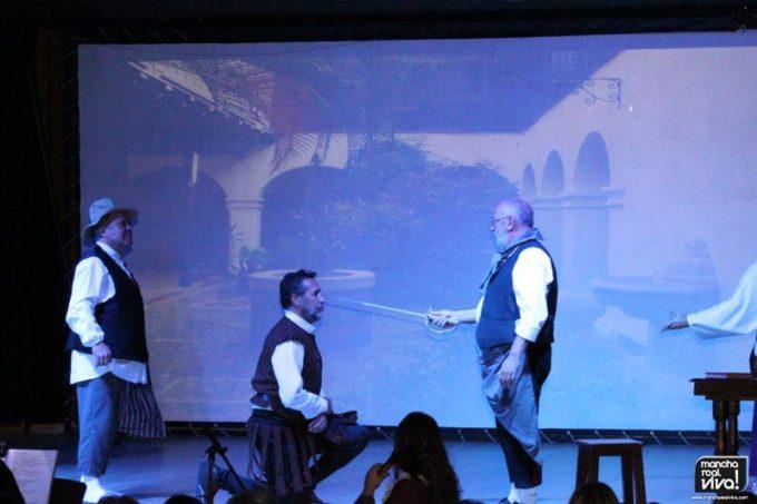 Una de las escenas del musical El Hombre de la Mancha