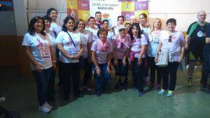 La Alcaldesa con Concejales y voluntarias