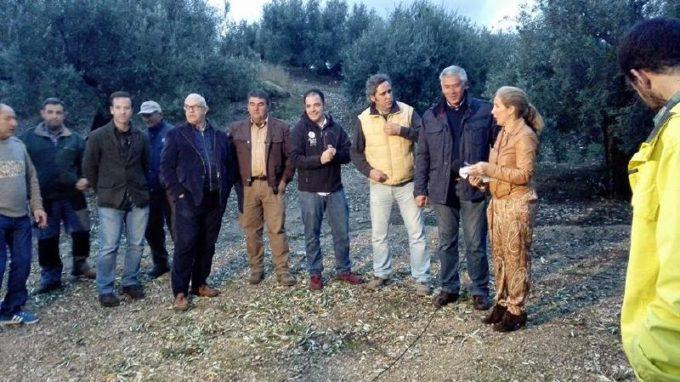 Patrulla de olivareros que fueron entrevistados para el programa de Juan y Medio