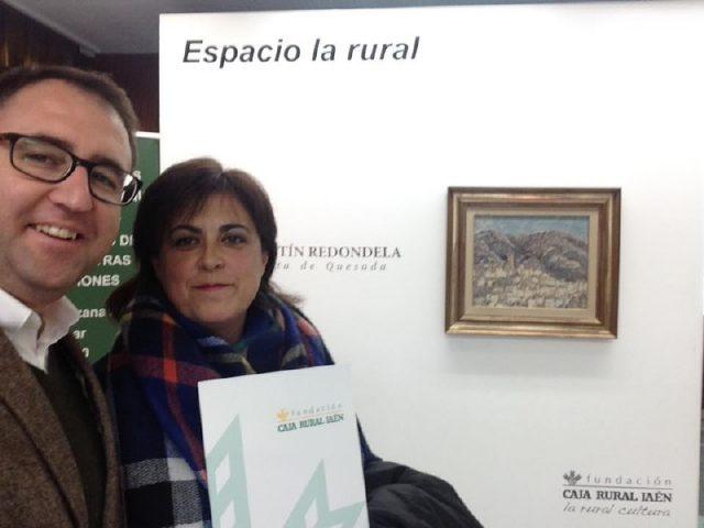 M. Trinidad Cantero y Jose Carlos Cobo en las dependencias de Caja Rural
