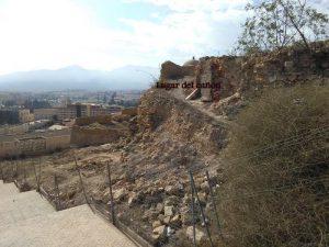 Montículo donde estuvo el cañón emplazado