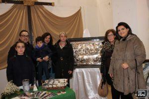 Pilar Herrera donó el cuadro de la Santa Cena