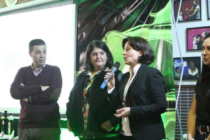 Amalia Soria junto a Mar Dávila e Ildefonso Ruiz