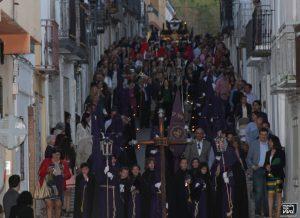 La Procesión a su paso por calle Las Lecheras