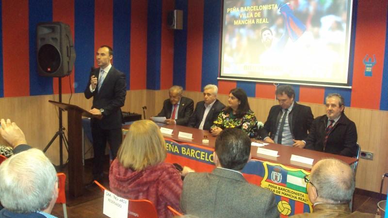 Photo of La Peña Barcelonista «Villa de Mancha Real» inaugura su nueva sede con la visita de Serna