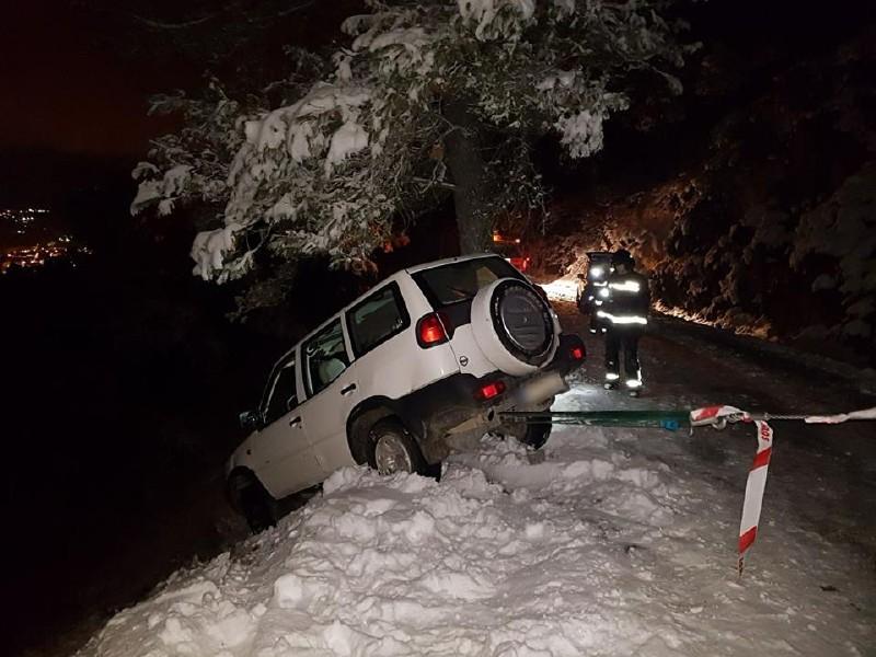 Photo of Susto del conductor que estuvo a punto de caer a un barranco en la carretera de la Peña del Águila