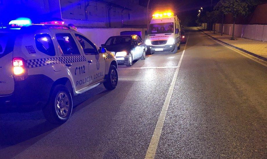 Photo of Accidente de madrugada en la Av. de Jimena de Mancha Real