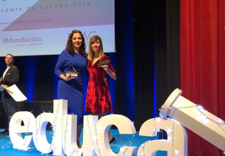 Photo of Patricia Huertas es galardonada en los «Premios Educa Abanca mejor docente de España 2018»