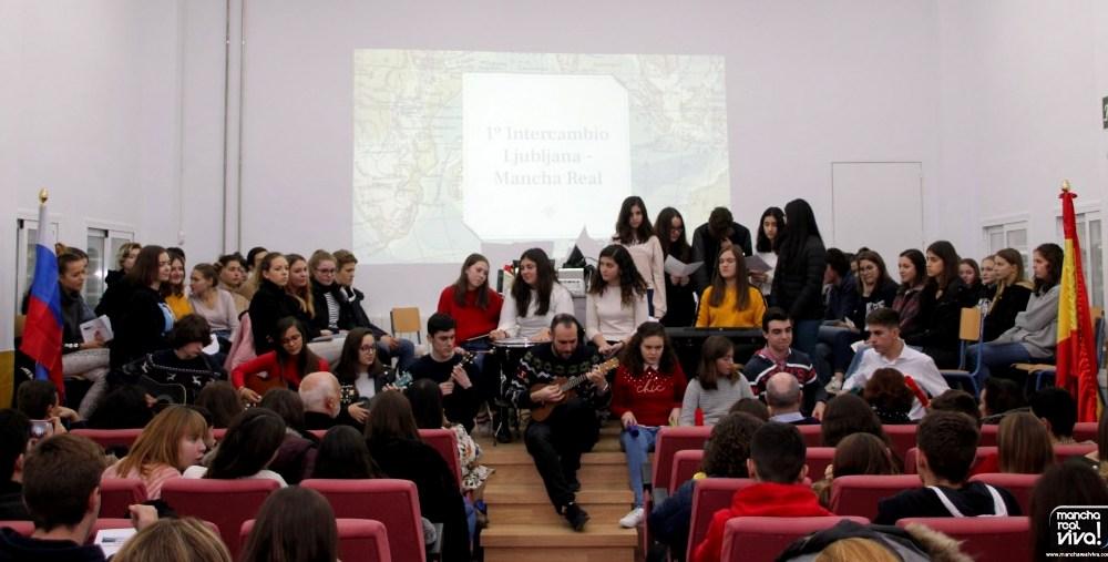 Photo of Acto de despedida del Intercambio de alumnos del IES Sierra Mágina con un centro Esloveno