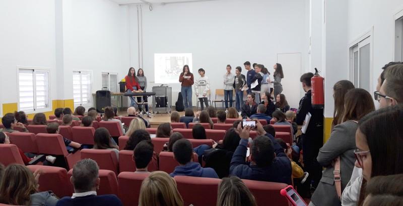 Photo of Despedida en el IES Sierra Mágina de los alumnos de intercambio de Saint Joseph Bourgoin-Jallieu
